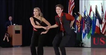 15-Year-Old Swing Dancers Perform