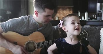 5-Year-Old Sings Duet Of 'Tomorrow' With Dad