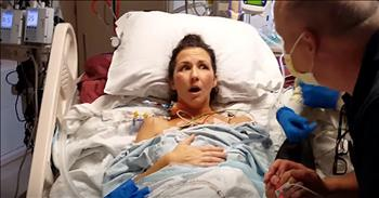Woman Takes First Clear Breath Of Her Life