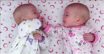 Identical Twin Babies Interact For First Time