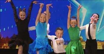 Tiny Irish Ballroom Dancers Earn Golden Buzzer
