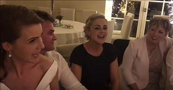 Newlyweds And Friends Perform Irish Song
