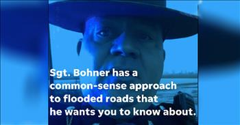 Funny Cop Warns Drivers About Flooded Roads