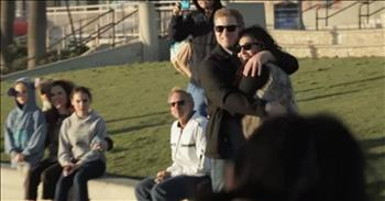 Flash Mob Proposal To 'My Girl' On The Beach