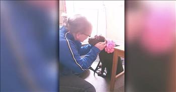 Husband Surprise Wife With Puppy On 40th Birthday