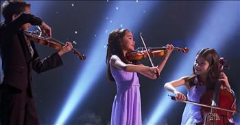 Sibling Trio Performs String Number On Talent Show