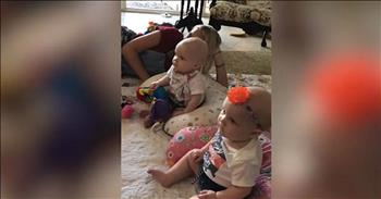 Precious Twins Stop Crying When Mom Plays Their Favorite Song