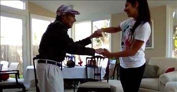 Girl Dances With Granddad Who Has Alzheimer's