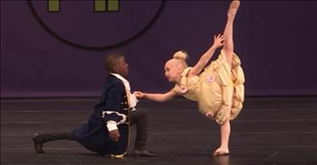 Pint-Sized Duo Dance To 'Beauty And The Beast' Theme