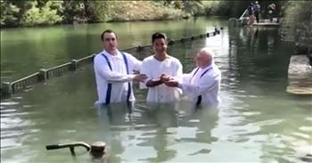 Celebrity Mario Lopez Gets Baptized In Jordan River