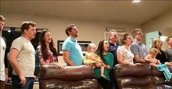 Big Family Sings Musical In Their Living Room