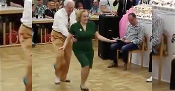 Elderly Couple Takes Dance Floor By Storm