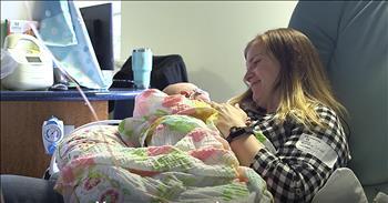Mothers Sing To Preemie Babies In Hospital