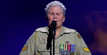 Veteran With PTSD Cries During Audition