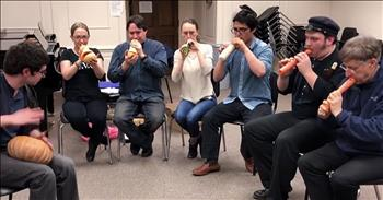 Vegetable Orchestra Play 'The Star-Spangled Banner'