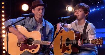 Father-Son Singing Duo Earn Simon's Golden Buzzer