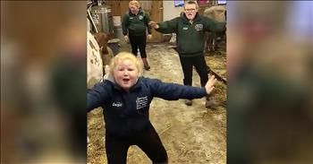 3 Farm Sisters Lip-Sync With Their Cows