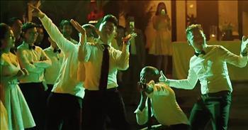 Wedding Dance-Off Between Bridesmaids And Groomsmen