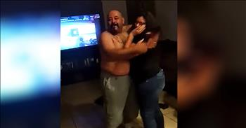 Dad Flips Out Over Pregnancy Announcement