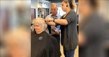 Husband Learns To Fix Wife's Hair When She Is No Longer Able