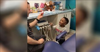 Dentist Calms Kids With Funny Magic Tricks