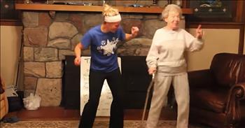 85-Year-Old Granny Busts A Move During Talent Show