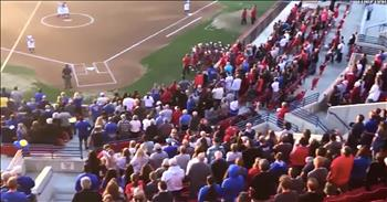 Crowd Sings Anthem After It's Not Played Before Game