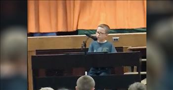 4th Grader Plays Piano Rendition Of 'Imagine' At Talent Show