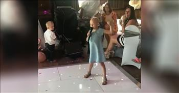 6-Year-Old With Cancer Sings 'Fight Song' At Wedding