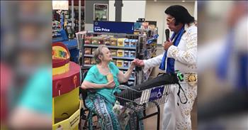 Elderly+Woman+Sings+With+Elvis+In+Walmart