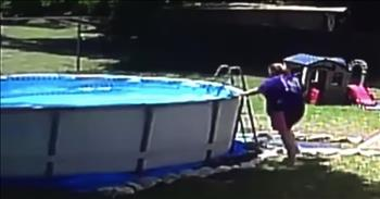 Security Camera Shows 17-Month-Old Falling Into Pool