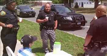 Officers Help Boy After His Lemonade Money Is Stolen