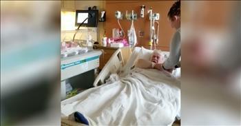 Dying Man Meets Newborn Great-Granddaughter