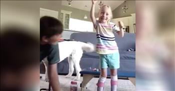 4-Year-Old With Cerebral Palsy Takes First Steps