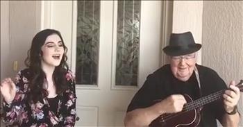 Teenager Joins Grandpa For Duet Of 'Somewhere Over The Rainbow'