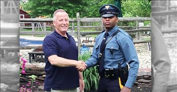 Trooper Pulls Over Retired Cop That Delivered Him Years Ago