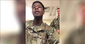 US Soldiers Sing 'Amazing Grace' A Cappella