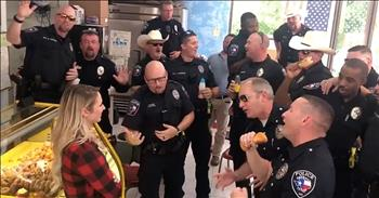 Police Officers Lip Sync To 'You've Lost That Loving Feeling'