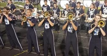Trombone Players Pull Off Risky Routine