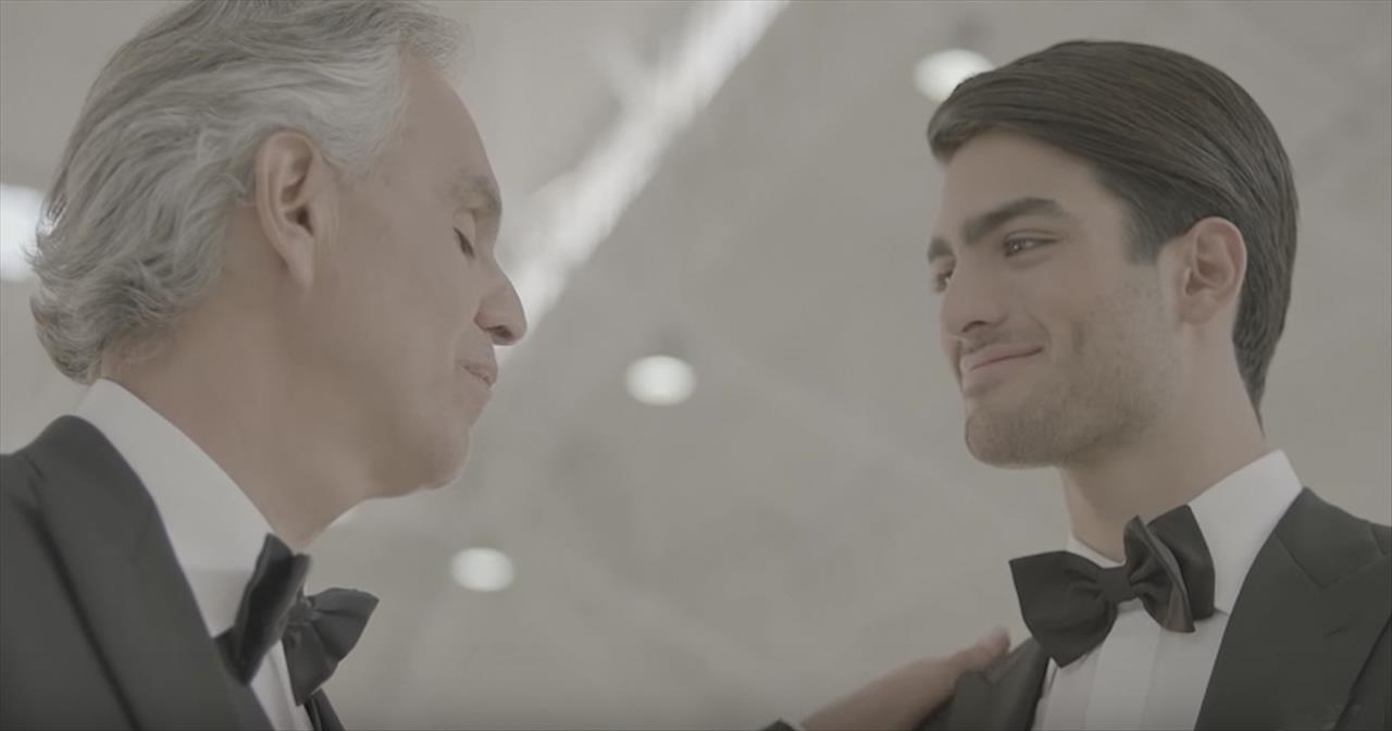 Andrea Bocelli Duets With Son With 'Fall On Me'