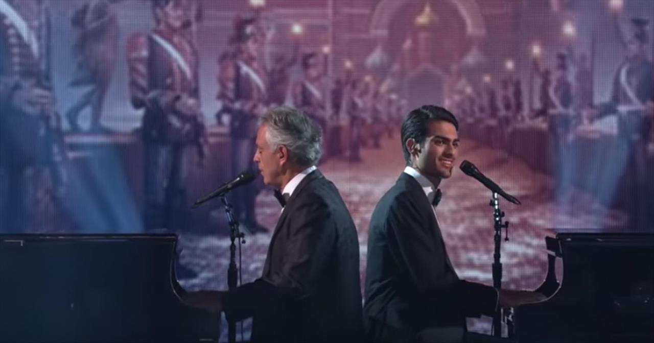 Andrea Bocelli and Son Live Performance on Dancing With The Stars
