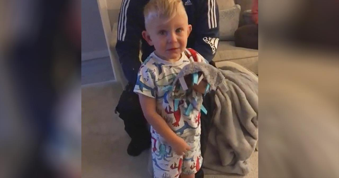 3 Year Old Is Moved To Tears By Birthday Presents