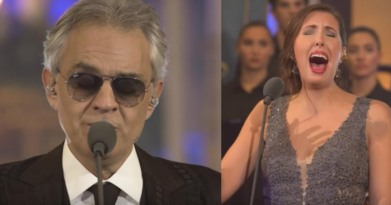 Andrea Bocelli and Francsca Battistelli Sing 'What Child Is This?'