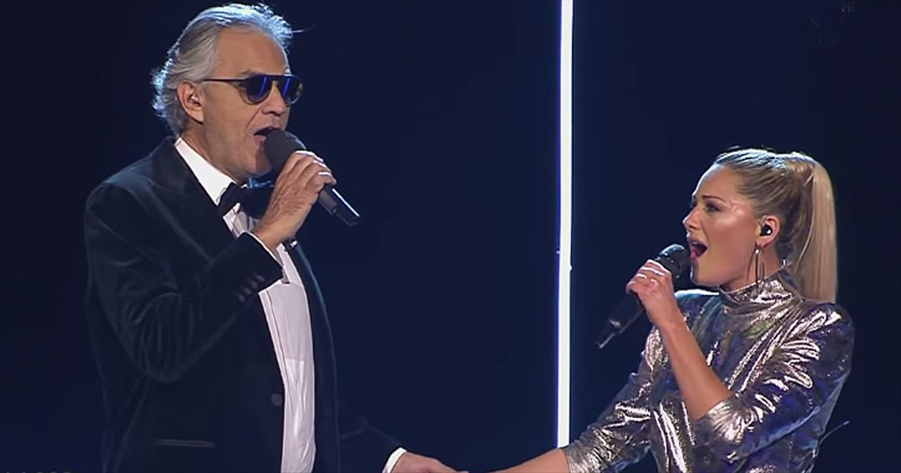Andrea Bocelli And Helene Fischer Perform Hit Single 'If Only'