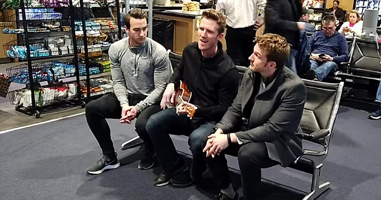 Gentlemen Trio GENTRI Sings For Delayed Passengers Stuck At Airport