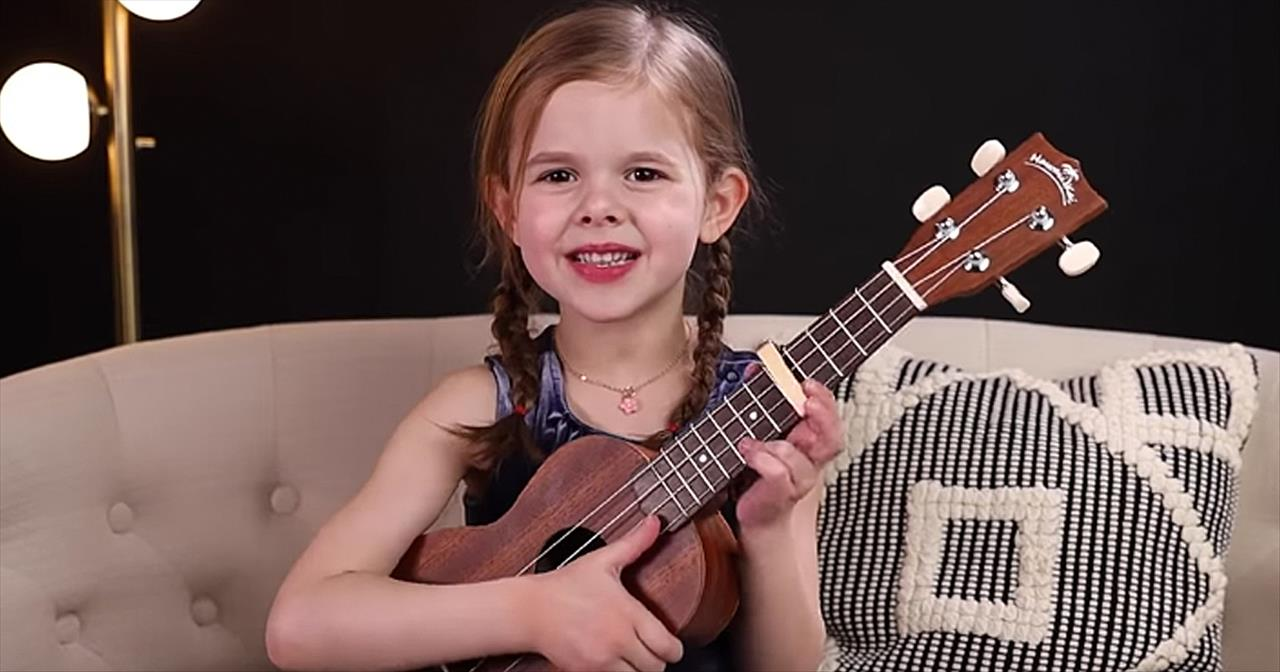 6-Year-Old Claire Crosby Ukulele Cover Of 'Can't Help Falling In Love' -  Staff Picks