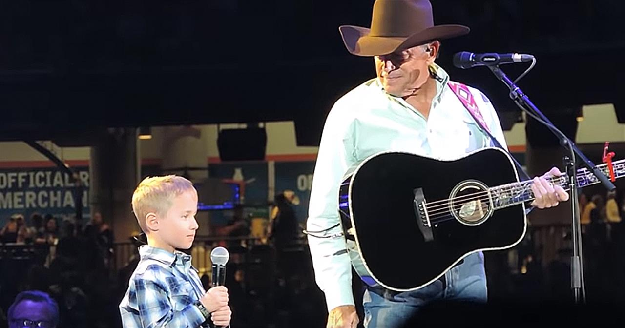 George Strait And Grandson Sing God And Country Music Duet