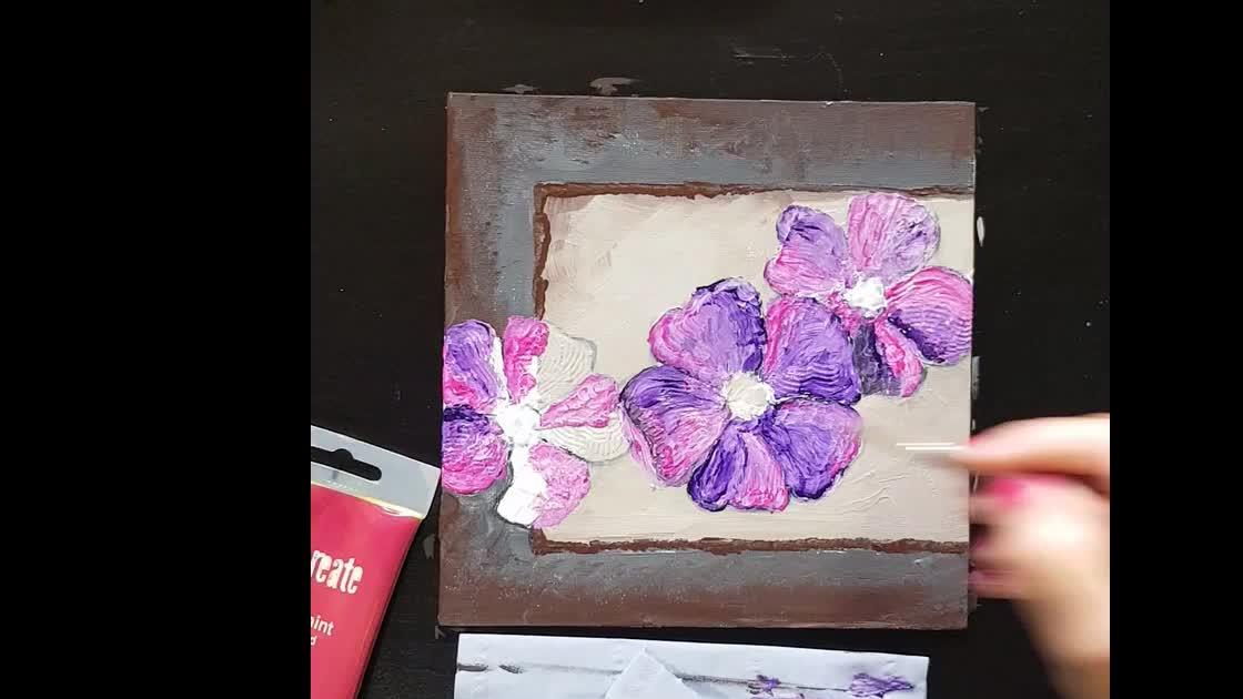 Very Easy Acrylic Abstract Painting For Kids Beginners Using Gesso Brush And Knife Sonil Arts Education Videos