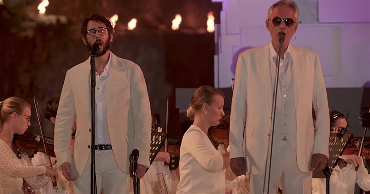 'We Will Meet Once Again' Andrea Bocelli And Josh Groban Duet
