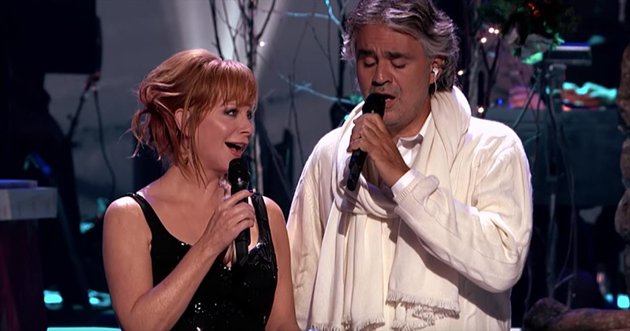 'Blue Christmas' Duet From Andrea Bocelli And Reba McEntire